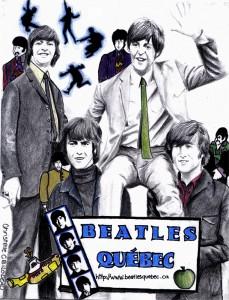 L'affiche de Beatles Québec est une réalisation de l'artiste Christelle Bilodeau